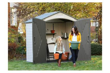small resin outdoor storage shed