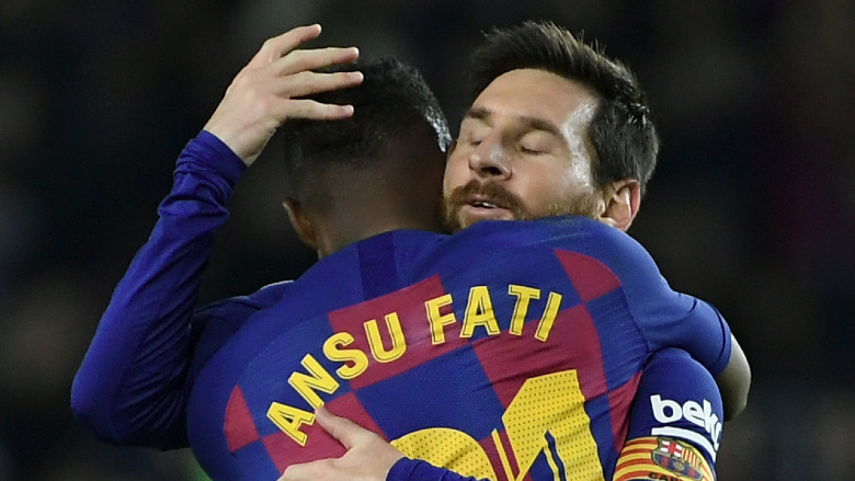 Lionel Messi and Ansu Fati