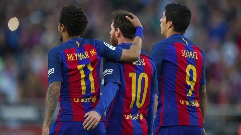 Messi, Suarez and Neymar