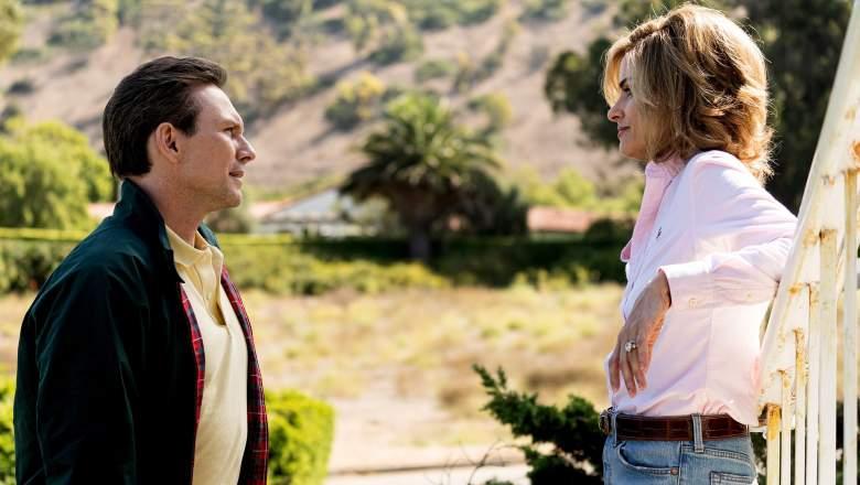"""No Fault"" Episode 201 -- Pictured: (l-r) Christian Slater as Dan Broderick, Amanda Peet as Betty Broderick"