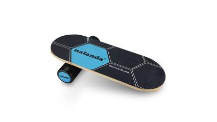 NALANDA Balance Board Stability Core Trainer, Professional Roller Board with Anti-Slip Surface & Solid Wood Board for Daily Exercise, Athletic Training and Board Sports