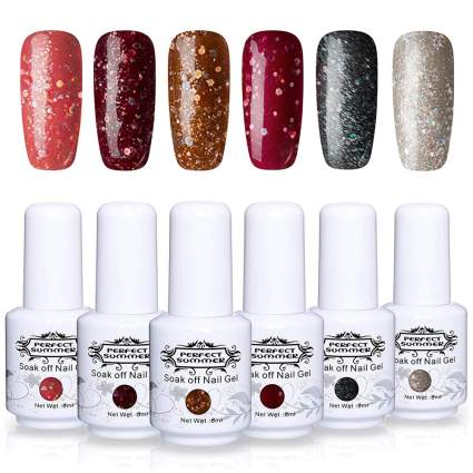 Deep glitter nail polish swatches