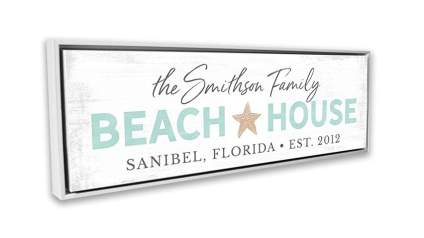 Pretty Perfect Studio Personalized Beach House Sign