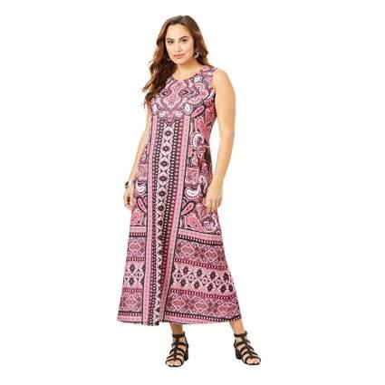 print shift plus size maxi dress
