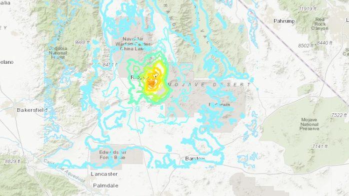 California Earthquake near Ridgecrest & LA