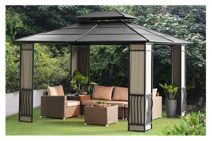 galvanized steel hardtop gazebo