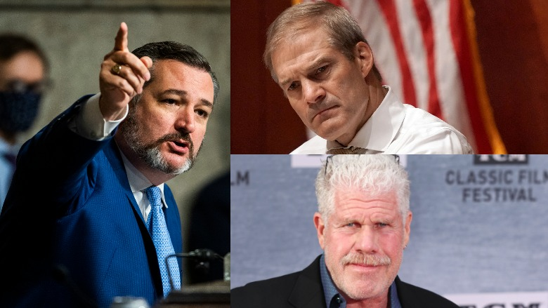 Ted Cruz, Ron Perlman, Jim Jordan