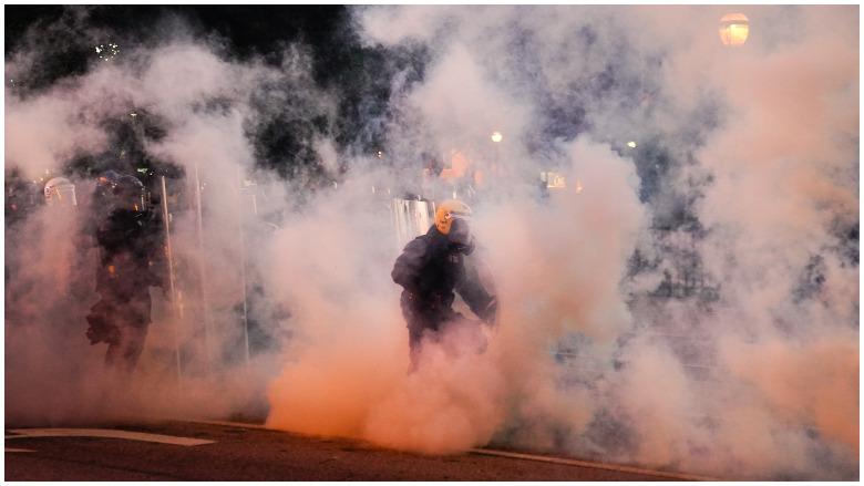 atlanta tear gas
