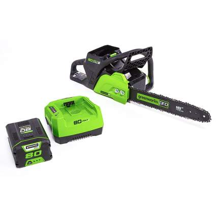 battery powered 80V chainsaw