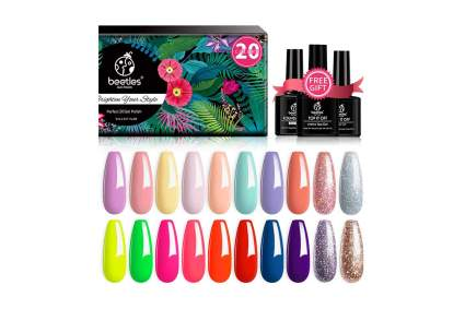 Brightly colored nail polish set
