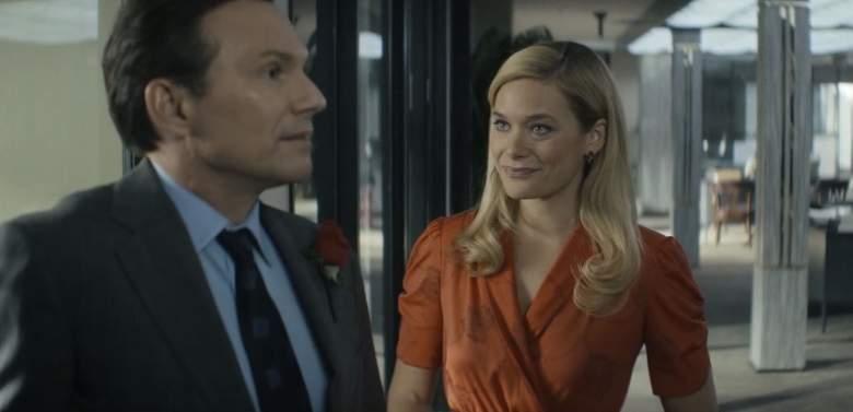Christian Slater and Rachel Keller in Dirty John