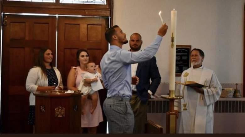 Mitch Trubisky baptism Cody Whitehair