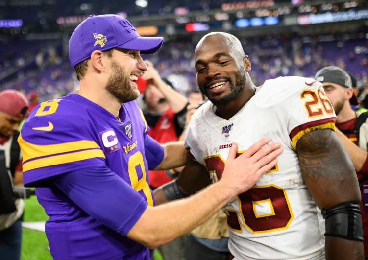 Kirk Cousins and Adrian Peterson