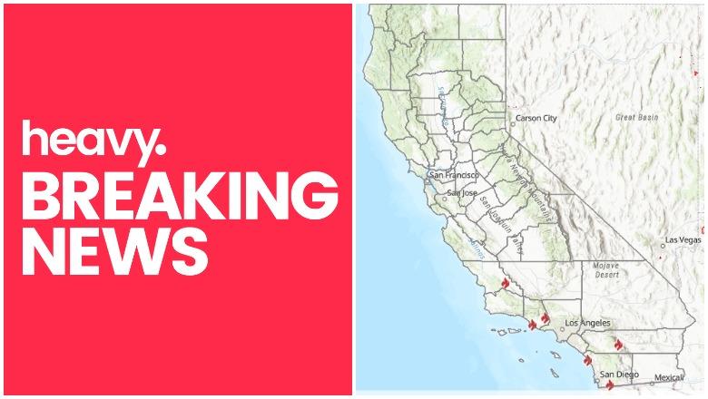 California Fire Map Near Me Track Skyline Fire More Heavy Com