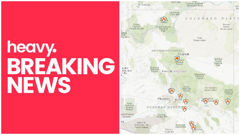 Arizona Fire Map Near Me Track Bush Bighorn Fires More Heavy Com