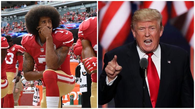 Trump Kneeling