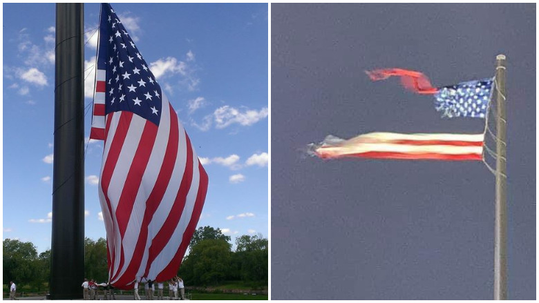 sheboygan ripped flag