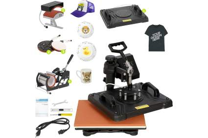 Heat press kit with lots of accessories