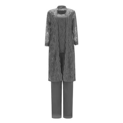 Lacy three piece grey suit