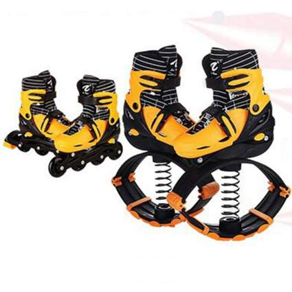 kangaroo shoes, shoes with springs, jump shoes