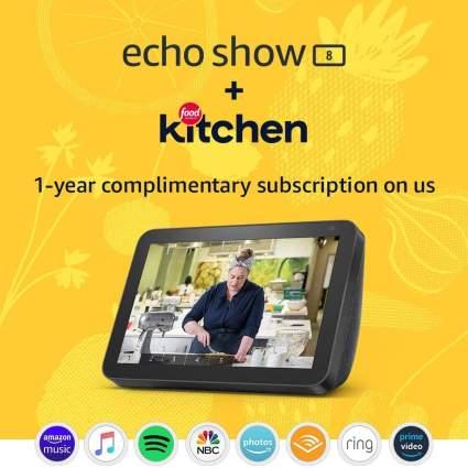 Echo Show 8 (Charcoal) Kitchen Bundle