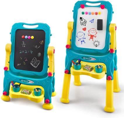 NextX Kids Easel for Two, Adjustable Double Sided Art Easel