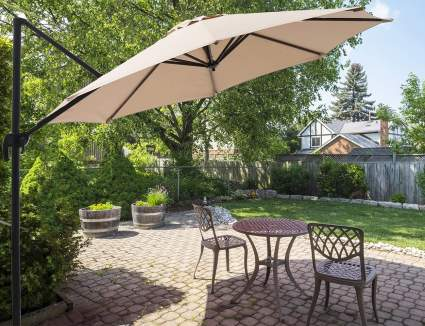 10 Ft Offset Hanging Umbrella