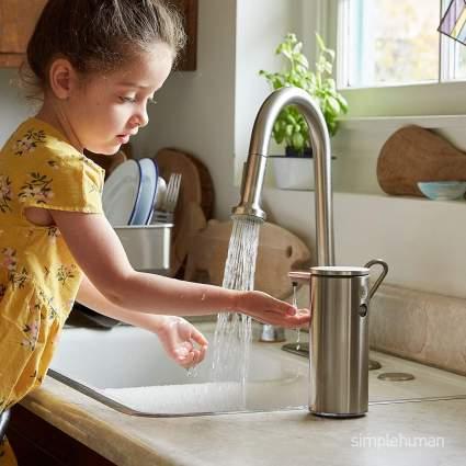simplehuman 9 oz. Touch-Free Rechargeable Sensor Liquid Soap Pump Dispenser