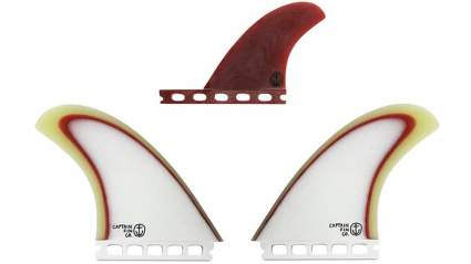 Captain Fin Co. CF-Twin Especial Surfboard Fins - 2 Fin Set - Single Tab - Brown
