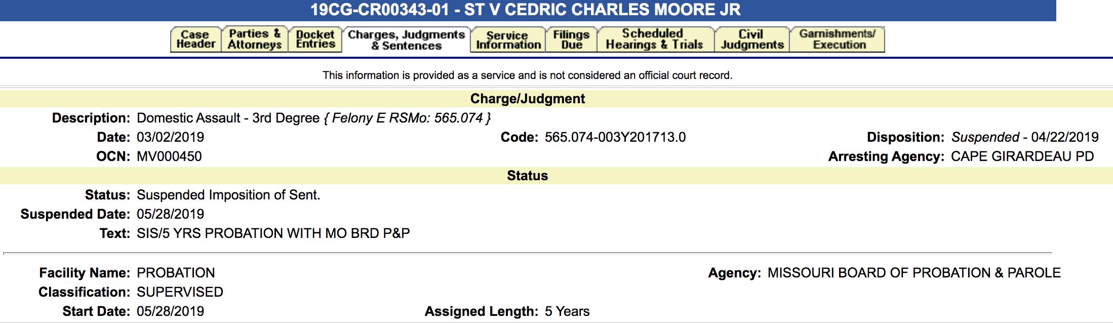 CJ Moore 2019 case