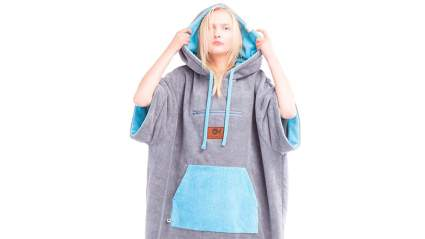 CULTHOOD Changing Robe Towel Poncho with Zip Pocket - Change Your Surfing and Swimming Wetsuit/Clothes in Public with Style -Many Colors–Adult Size Fits All–Approved by Wakeboarding Champions