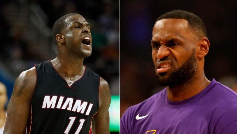 Dion Waiters, left, and LeBron James