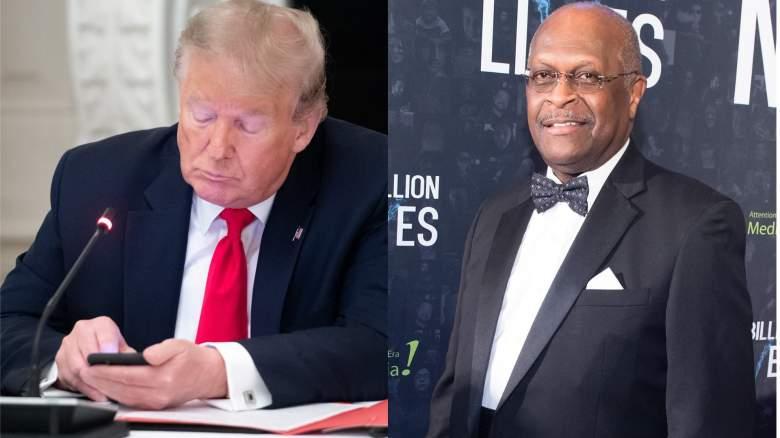 Donald Trump and Herman Cain