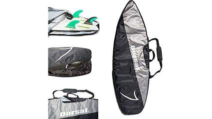 DORSAL Board Bag Travel Day Surfboard Cover - Shortboard 5'6, 5'10, 6'0, 6'2, 6'6, 6'8, 7'0, 7'6