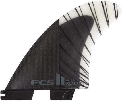 FCS II Reactor Performance Core Carbon Tri Fin Set - Black/Charcoal
