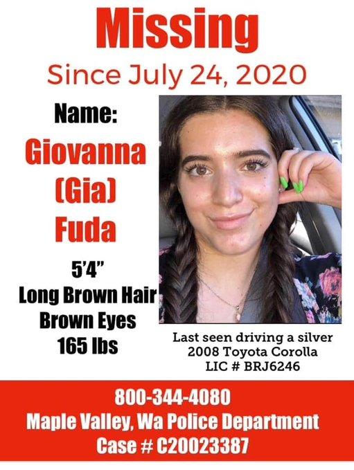 Gia Fuda missing poster