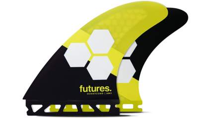 Futures Fins - AM2 HC Thruster - Yellow/Black