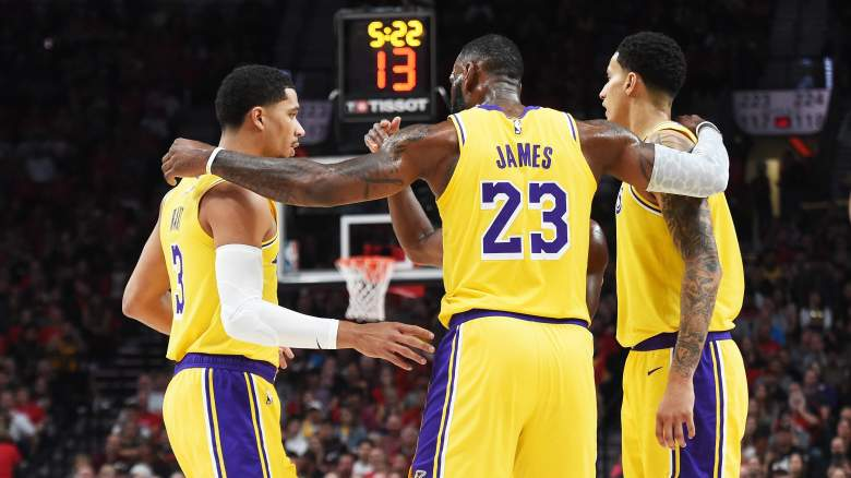 LeBron James, (middle) Lakers