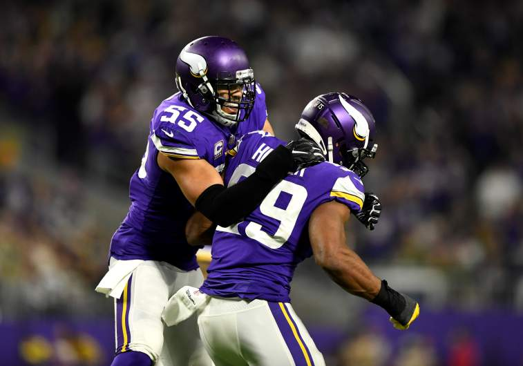 Anthony Barr and Danielle Hunter
