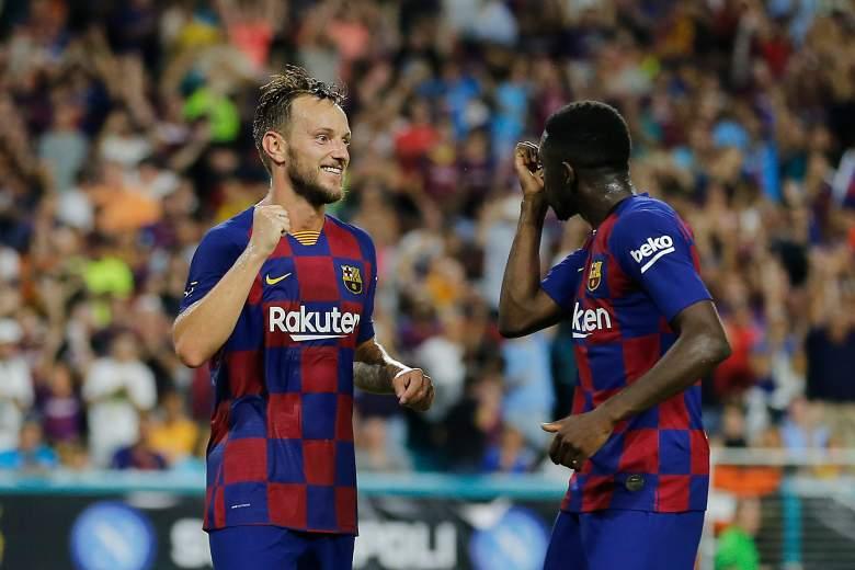 Ousmane Dembele and Ivan Rakitic