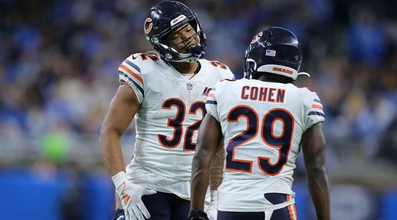 Chicago Bears RBs David Montgomery and Tarik Cohen