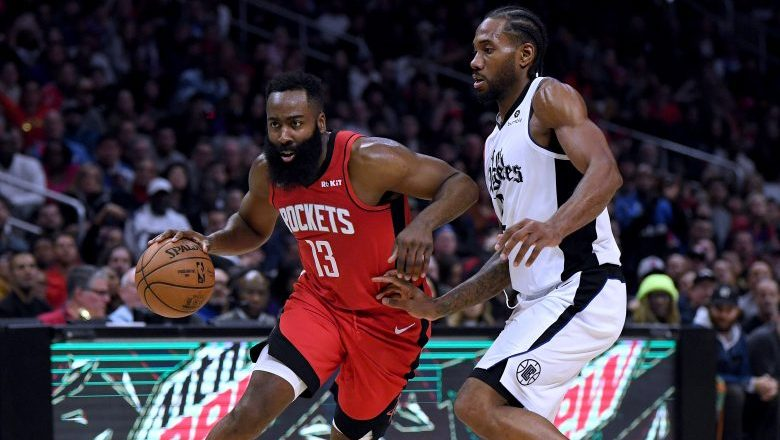 James Harden has more 40-point games in his career than Kawhi Leonard has 30-point games
