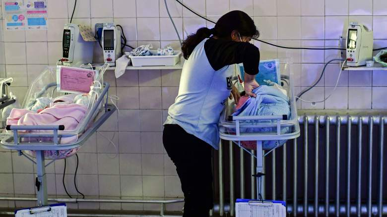 Adriana Beramendi cares for one her newborn quadruplets at the Ramon Sarda Maternity Hospital in Buenos Aires, on July 7, 2020, amid the new coronavirus pandemic.