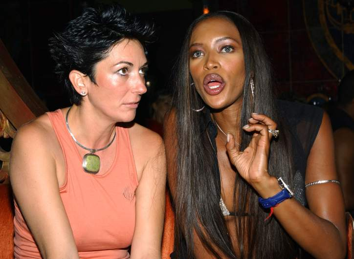 Ghilaine Maxwell and Naomi Campbell