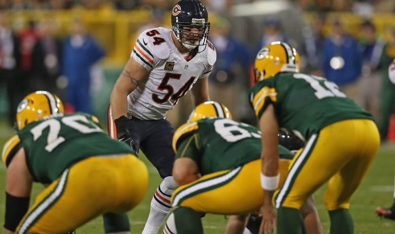 Brian Urlacher Aaron Rodgers Packers