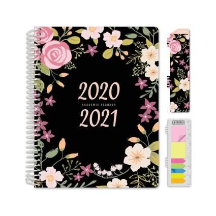 Hardcover Flower 2020 - 2021 Planner