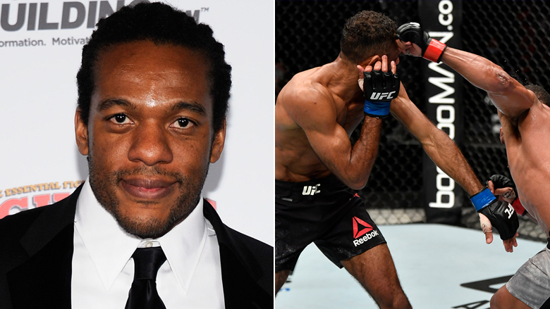 UFC Referee Herb Dean left, UFC Fight Night Trinaldo vs Herbert