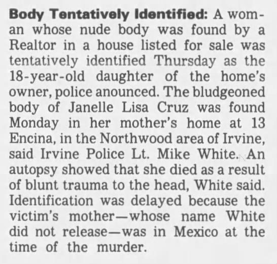 Janelle Cruz murder