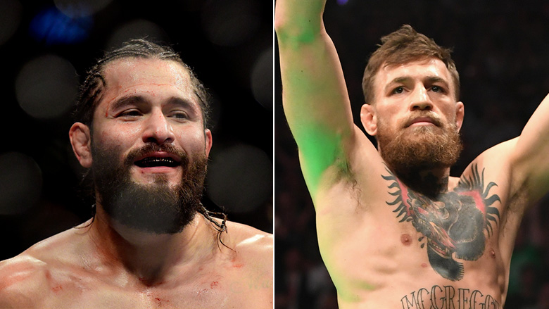 UFC Champ Jorge Masvidal left, UFC Star Conor McGregor right
