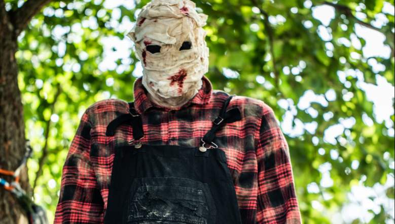 Bruce, the murderous handyman being controlled by the killer on The CW's Killer Camp